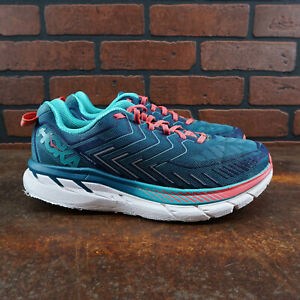 Hoka-One-One-Clifton-4-Womens-Size-10-Wide-D-Running-Shoes-NO-INSOLES-Teal