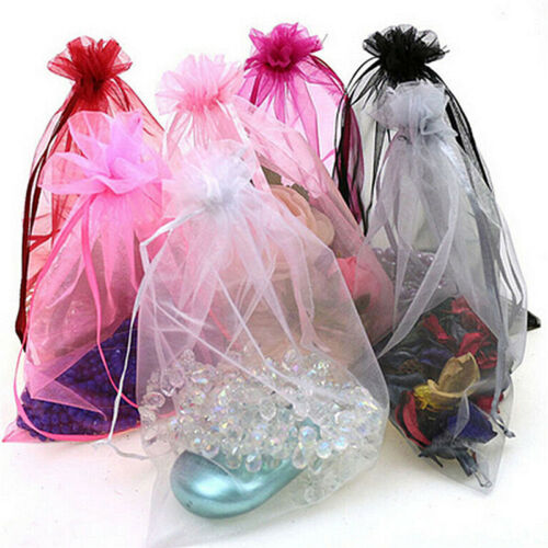 50pc Organza Gift Bags Jewelry Candy Bag Wedding Favor Bags Mesh Gift Pouches/_WK