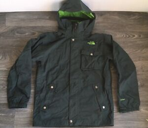 The North Face Hyvent Jacket Zip Off Hood Snow Ski Weather Proof Green Men S M Ebay