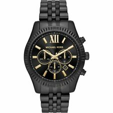 41bc3beda164 100 Michael Kors MK8603 Lexington Black Dial Stainless Steel Men s Watch