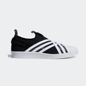 purchase cheap 5fb19 52eaf Details about New Adidas Original Womens SUPERSTAR SLIP ON BLACK / WHITE  D96703 US W5-11 TAKSE