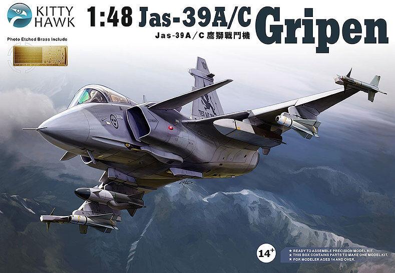 KittyHawk Model kit KH80117 1 48 Saab JAS-39 A C Gripen
