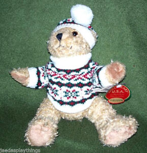 Hollybeary-Oso-de-Peluche-Holly-Beary-Ee-uu-Theodor-en-Sueter-y-Sombrero