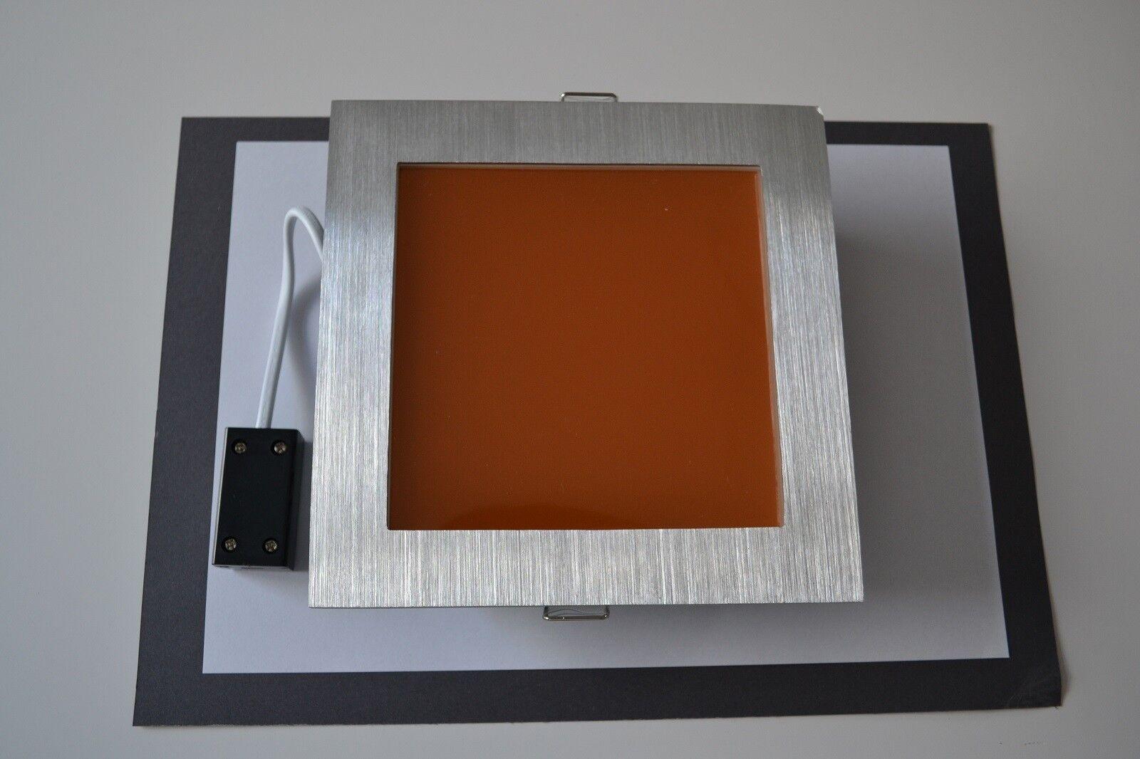 WARMLICHTFILTER LED EINBAULAMPE VIERECKIG 6-6,9 CM KANTENLÄNGE 1 STÜCK
