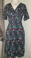 New  Mistral Jersey Tea Dress Size 8-18 Cotton New Potatoes abstract floral