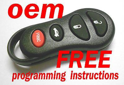 Original CHRYSLER DODGE keyless entry remote fob transmitter clicker 04602268