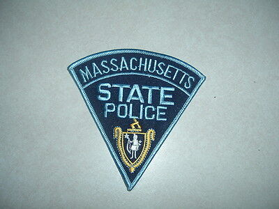 LAW ENFORCEMENT PATCH POLICE MASSACHUSETTS STATE POLICE FOR SHOULDER 4 1/2 INCH
