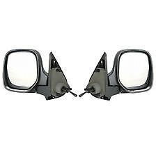 Peugeot Bipper 2008-/> Door Mirror Manual Cable Black Pair Left /& Right