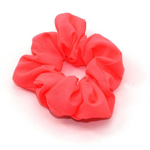 Solid Color Hair Scrunchies Elastic Hair Bands Bobble Sports Scrunchie Hairband