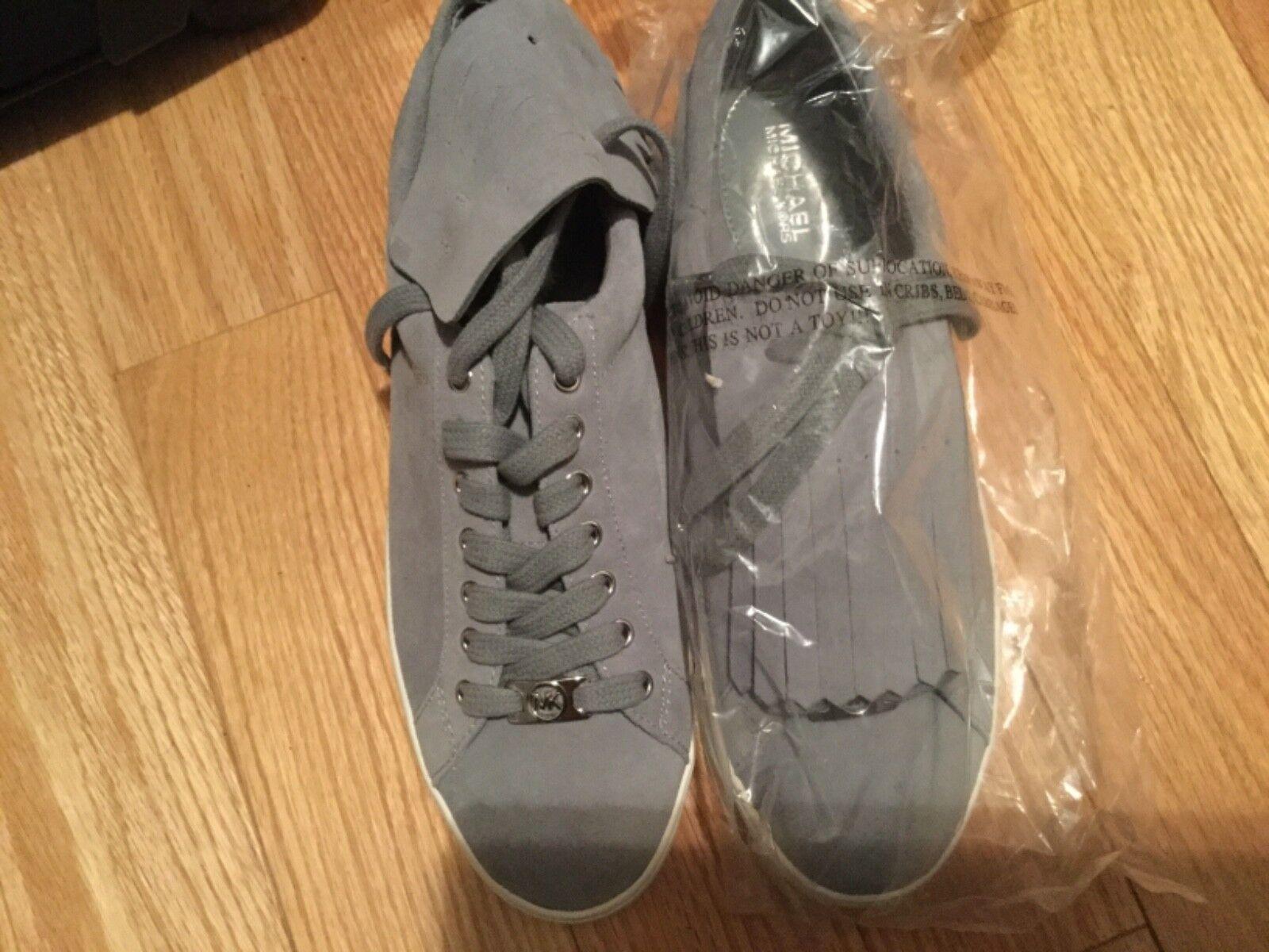 Michael Kors Keaton kiltie sneaker suede new 9M (shoes are mint)(box is damag