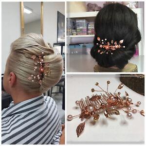 Avoir Un Esprit De Recherche Rosegold Bijoux De Cheveux Mariée Bijoux Mariage Haarkette Peignes Haardraht Perles-afficher Le Titre D'origine