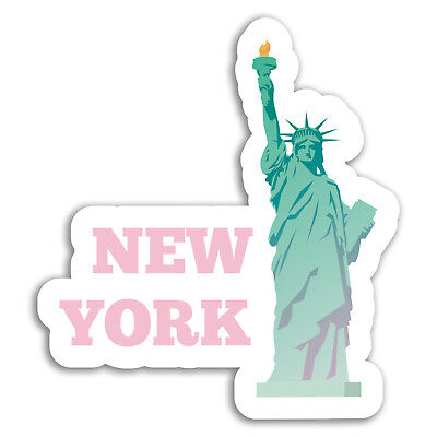 2 x New York USA Vinyl Sticker Travel Car Luggage #9112