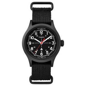 Timex Men's Watch Todd Snyder Military Black Dial Nylon Strap TW2R78600JR