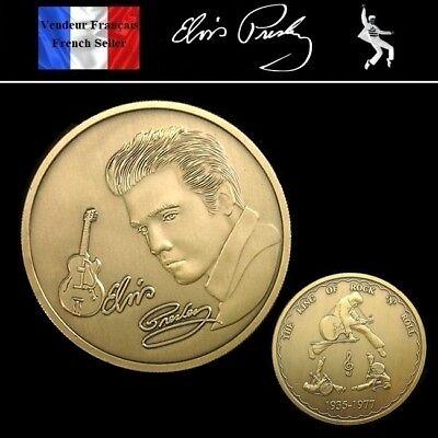 El Mejor 1 Pièce Bronze ( Bronze Coin ) - Elvis Presley ( Ref 4 )