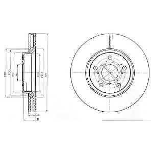 BRAND NEW Delphi Front 2x Coated Brake Discs BG4236C 5 YEAR WARRANTY