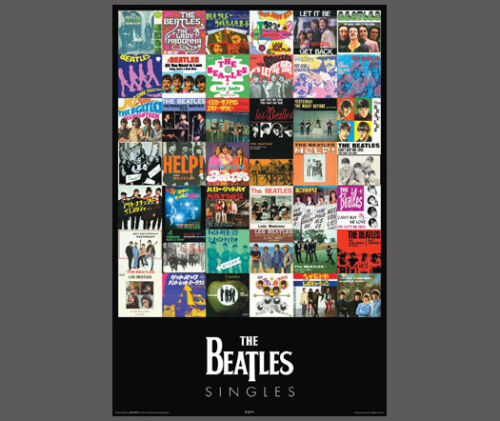 """The Beatles 42 SINGLES Record Album Covers POSTER 24/""""x36/"""" Licensed Edition"""