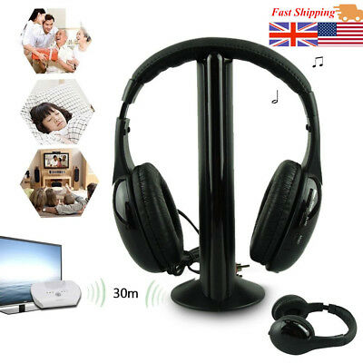 wireless headphone casque audio sans fil ecouteur hi fi radio fm tv mp3 mp4 opt ebay