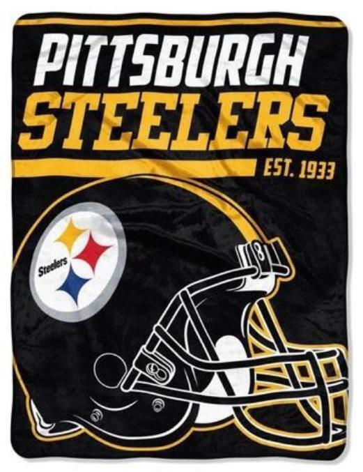 Pittsburgh Steelers Cuddly Blanket Royal Plush Ceiling NFL Football 152 Cm