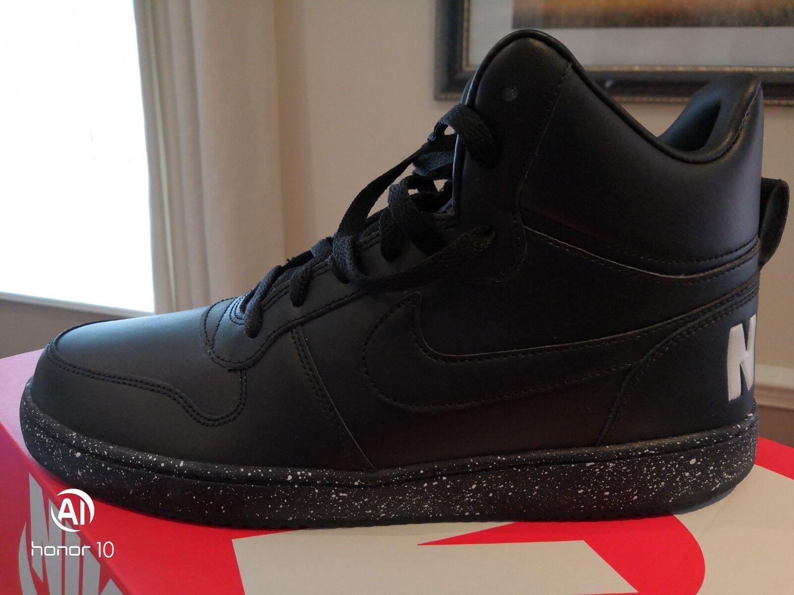 Nike Court Borough Mid Se Negro blancoo púrpuraa para Hombre Zapatillas UK 10 Nuevo Y En Caja 916759 0