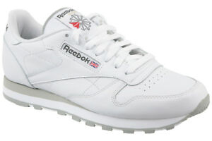 Reebok Classic Leather Retro Trainers in White 2214 UK 8 0054871722226