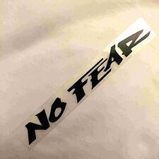 New Black No Fear Auto Car Van Truck Vinyl Graphics Decal Removeable Sticker