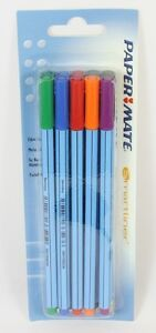 3 x Papermate FLAIR Fibretip Fibre tip pens ULTRAFINE BLACK New