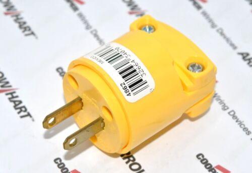 1pcs-COOPER 4862 15A 125V NEMA 1-15 Commercial Grade Vinyl Plug