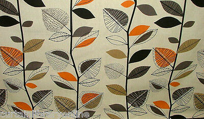 Prestigious Autumn Leaves Amber Designer Curtain Upholstery Fabric Roll £9.99