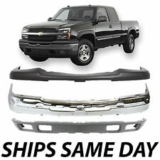 NEW - Complete Steel Front Bumper Kit 2003-2007 Chevy Silverado 1500 Avalanche