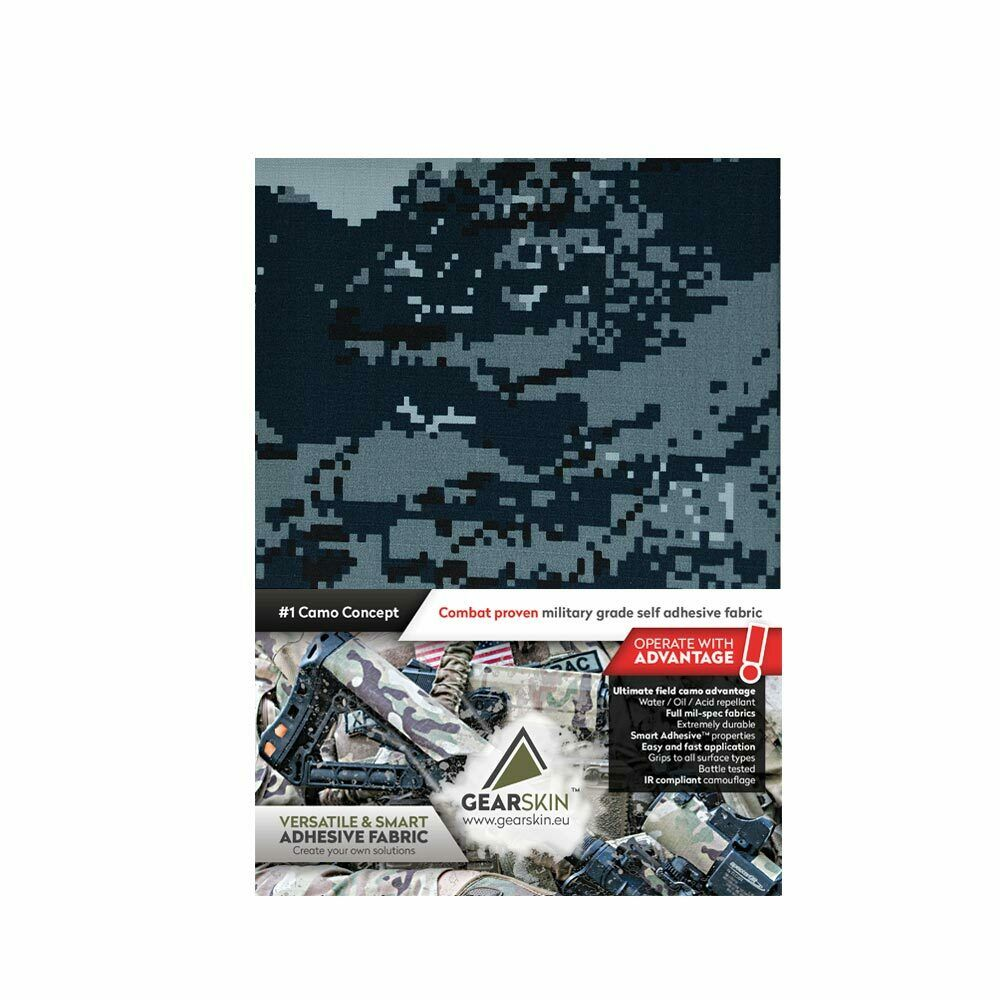 Digital navy Milspec adhesive fabric wrap, Waterproof, IR camouflage. EXTRA