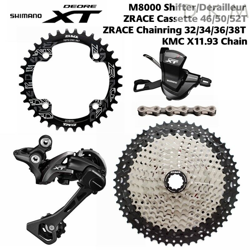 Shimano Deore XT M8000 Groupset 11 speed group  set big casstte 46T 50T 52T Zrace  guaranteed