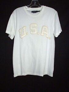 Image is loading Polo-Ralph-Lauren-Ivory-Custom-Fit-T-Shirt- 3cfb85c30380c
