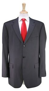 HUGO-BOSS-Rossellini-Cinemau-Gray-Thin-Striped-Wool-Mohair-3-Btn-Luxury-Suit-46L