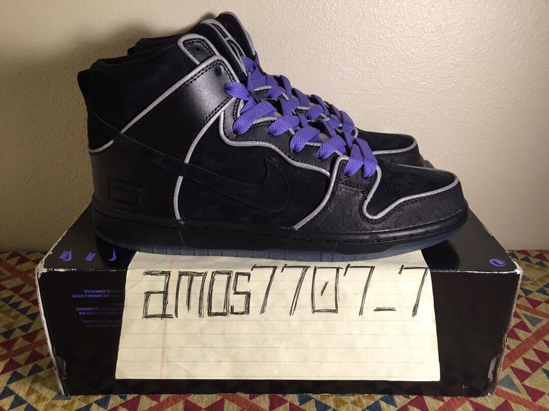 Seasonal clearance sale Nike Dunk SB High Elite Purple Box Black Silver 3M 833456 002 Men's Comfortable