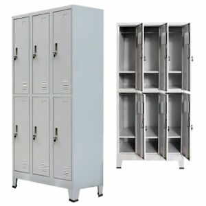 Locker-Cabinet-w-6-Compartment-Office-Gym-Sports-amp-Company-Changing-Container