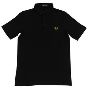 Fred-Perry-Boutonne-Homme-Noir-Polo-Shirt