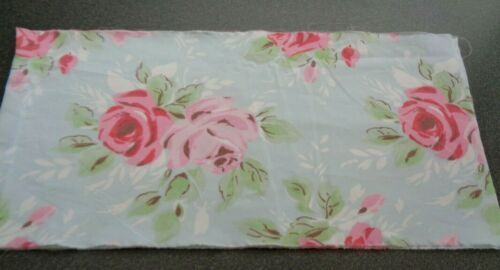 CATH KIDSTON COTTON FABRIC ROSE BLUE PINK FAT EIGHTH 47cm 23cm