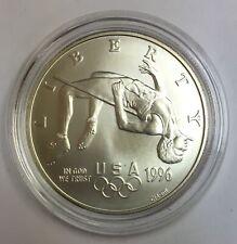 BU 1996-D $1 Atlanta Olympic High Jump Commemorative Silver Dollar