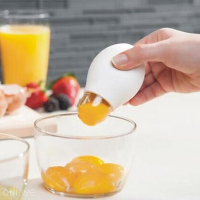 Kitchen Tools Home DIY Egg Yolk White Seperator Suction Divider Colander Filter