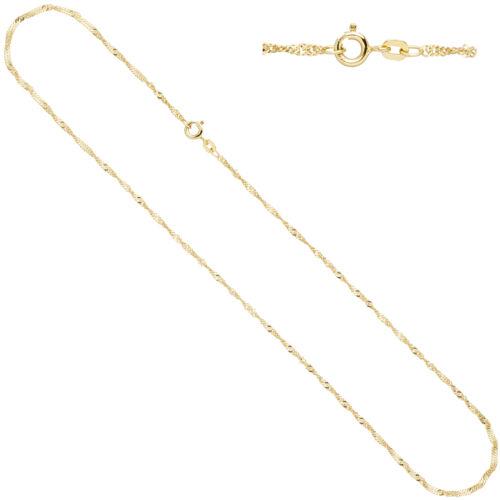 Singapurkette 333 dorado 1,8 mm 50 cm cadena de oro collar cadena de oro anillo de muelle