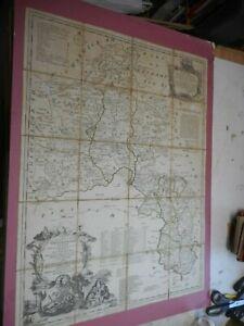 100-ORIGINAL-LARGE-OXFORDSHIRE-FOLDING-MAP-BY-BOWLES-CARVER-C1750-S