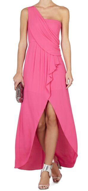 e8837ac8faa93 New with tag $298 BCBG Max Azria Kail Draped One-Shoulder 3058 Orange Dress  Sz