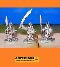 DARK CHAOS DWARF/ CULTISTS A / 3 x 15MM METAL FIGS /S.L.M.
