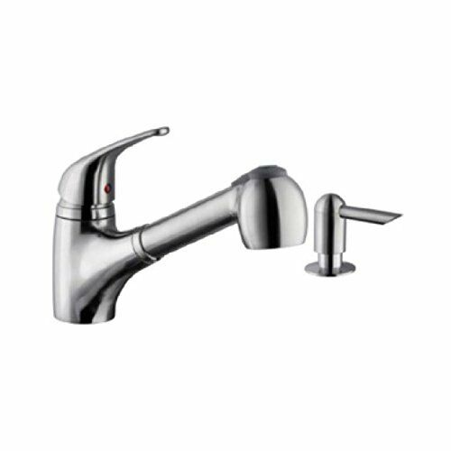 Cahaba CA6110SS Single Handle Low Profile Pull-Down Kitchen Faucet with Soap Dis