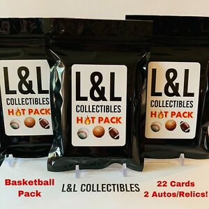 NBA Hot Pack! 22 total cards with 2 Autos/relics, 7 rookies.Repack Read Desc.