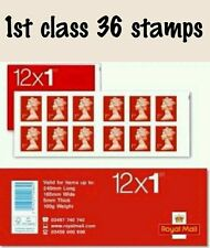 NEW Royal Mail Stamps FIRST 1st CLASS Book of 12 x 3 UK Postage sale!!