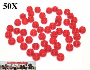 Lego 50 Stück runde 1x1 Platten in rot Rundplatte 4073 rote Platte rund Neu
