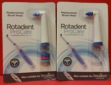 2 ROTADENT PROCARE BRUSH HEADS POINTY SHORT ROTA DENT FREE SHIPPING