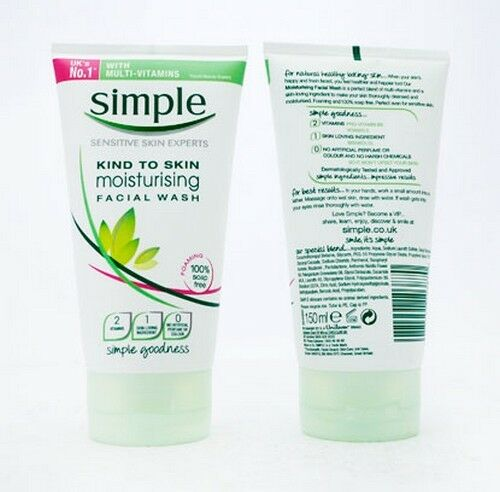 Image result for simple kind to skin moisturising facial wash 150ml