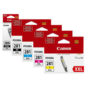 Canon PGI-280XXL CLI-281XXL Original Ink Cartridge Extra High Yield PB/BK/C/M/Y